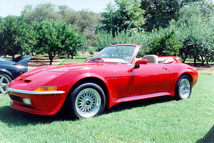 Red Opel GT Convertable