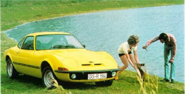 Yellow GT by the Lake... an original picture